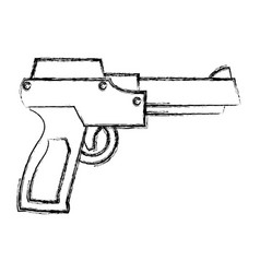 videogame gun pistol vector image