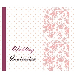 Vintage retro Wedding invitation vector