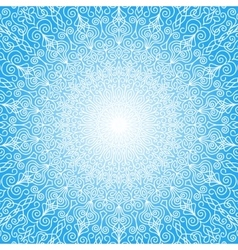 White mandala sun in the sky vector