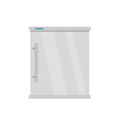 white refrigerator icon flat style vector image