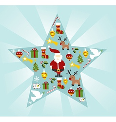 Christmas star shape vector image vector image