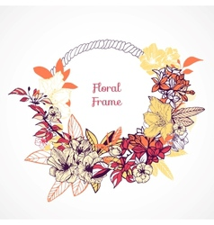 Floral frame template vector image