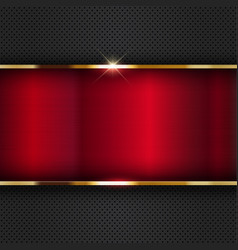 red metallic background vector image