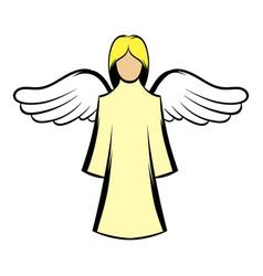 saint angel icon cartoon vector image