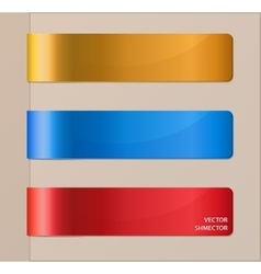 Set of horizontal banners or bookmarks vector image