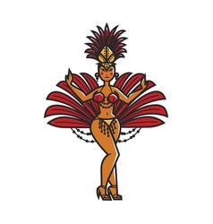 woman carnival dancer vector image