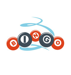 bingo letters on colorful balls hand drawn pattern vector image