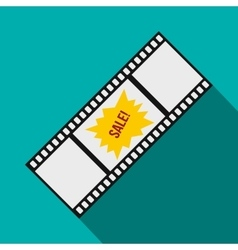 Film strip with sale text icon flat style vector