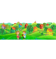 Horizont Easter banner vector image vector image