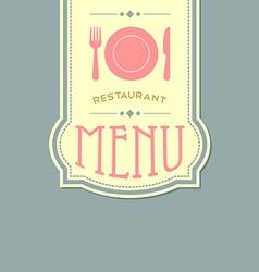 Restaurant menu cover vector image