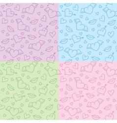 romantic patterns vector image