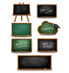 Set of school board blackboards Back to school vector image vector image