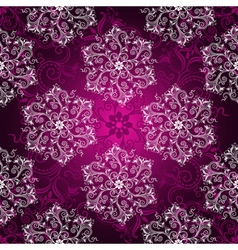 Vintage purple seamless pattern vector image vector image