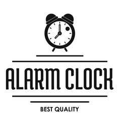alarm clock logo simple black style vector image