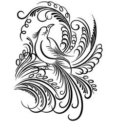 bird calligraphy vector image vector image