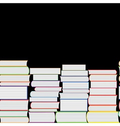 Books seamless texture vertically and horiz vector image