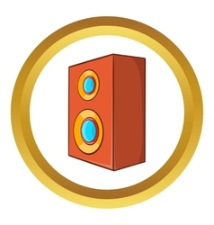 Brown speaker icon vector image