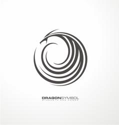 Dragon symbol unique concept vector image vector image