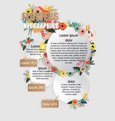 flowers infographics vector image vector image