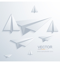 modern origami airplane background vector image vector image