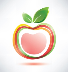 red apple symbol icon vector image vector image