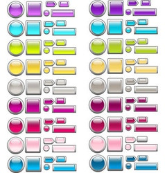 set of glass buttons 2 vector image vector image