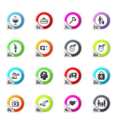 valentine day icons set vector image vector image