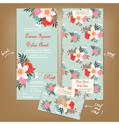 Wedding invitation seal and send vector