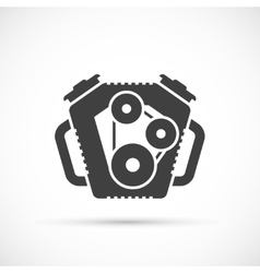 Car engine icon vector image