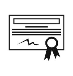 Certificate black icon vector image