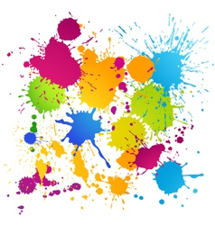 Colorful ink blots vector image vector image