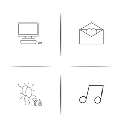 Lifestyle simple linear icon setsimple outline vector
