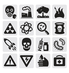Pollution set vector image vector image