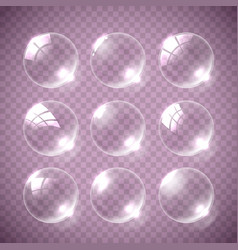 realistic soap bubble pink colors vector image vector image
