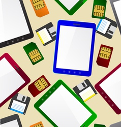Vertical Tablet computer seamless wallpaper vector image