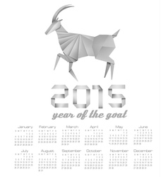 2015 year of the goat calendar vector image