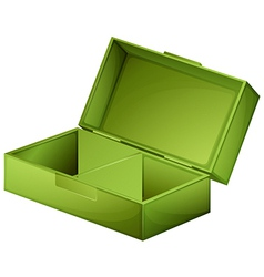 A green medical box vector image