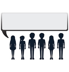 A group of people with an empty callouts vector image