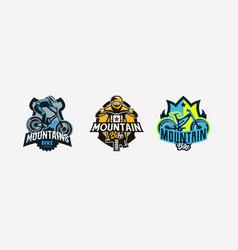 A set of colorful logos badges emblems vector