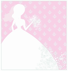 Abstract Beautiful floral bride vector