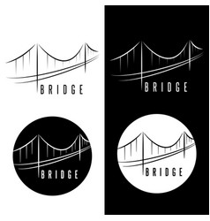 abstract bridge construction set design template vector image