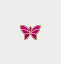 abstract butterfly flower logo design vector image