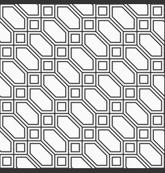 abstract seamless pattern hexagons and squares vector image