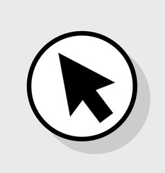 arrow sign flat black icon vector image