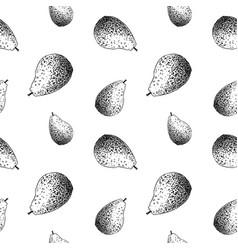 Avocado sketch pattern hand drawn black vector