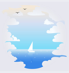 background with clouds and sea vector image