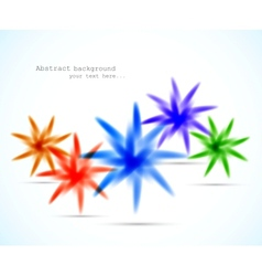Background with colorful stars vector image