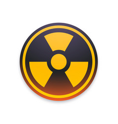 Black and yellow radiation symbol isolated vector
