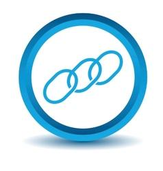 Blue Chain icon vector