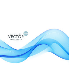 blue wave background design vector image